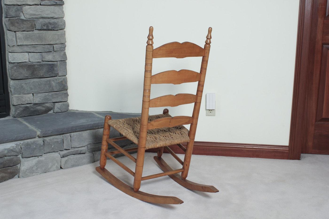Small Ladder Back Rocking Chair Ebth