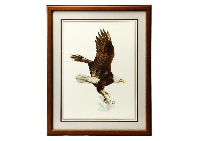 Offset Lithograph Of Hugh Hirtle S Quot Eagle Quot Ebth