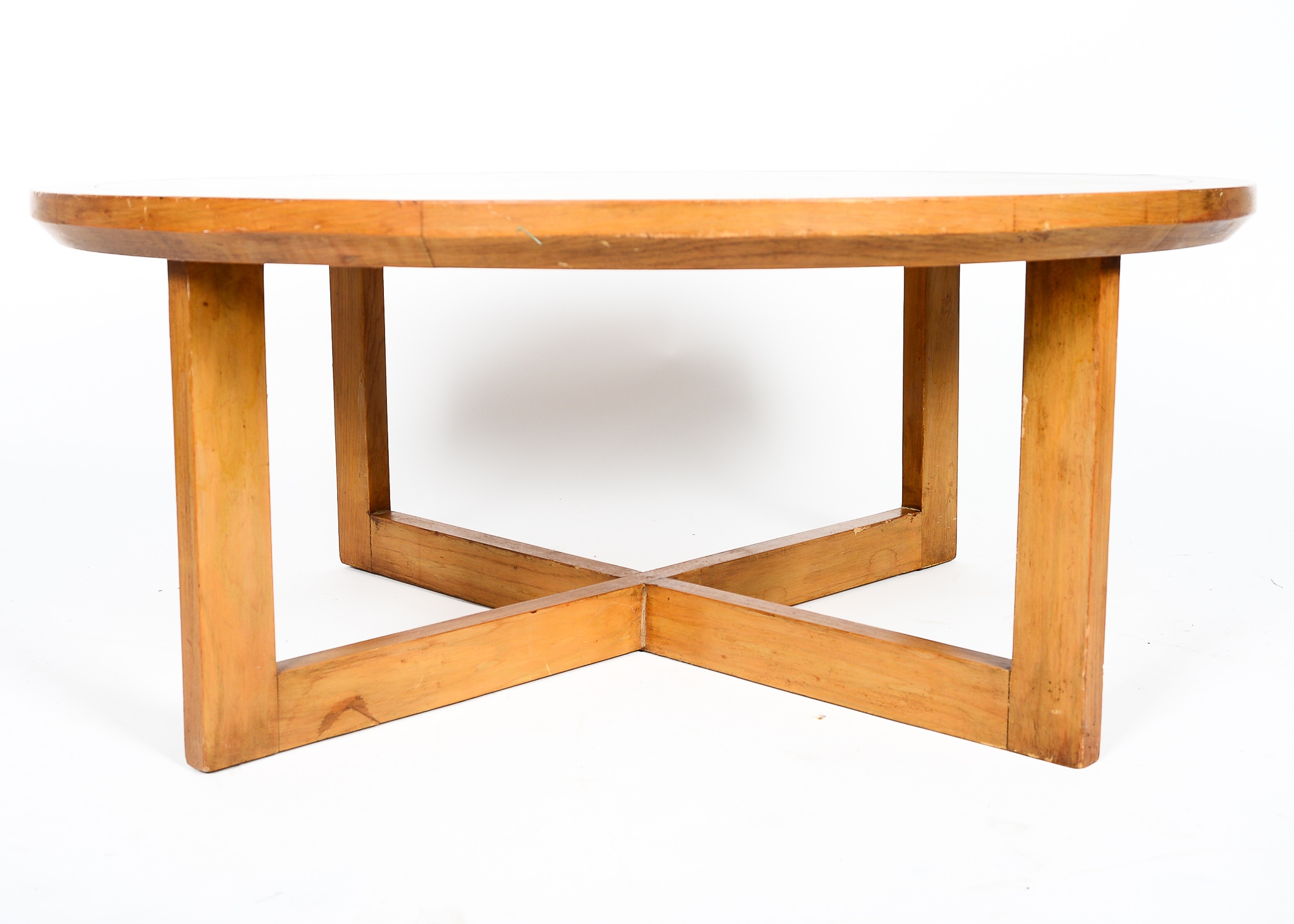 Mid Century Coffee Table and Four Stools : EBTH