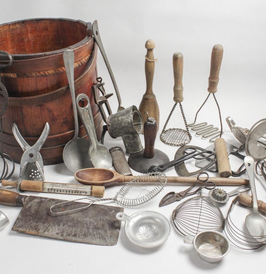 Antique Kitchen Hand Tools EBTH