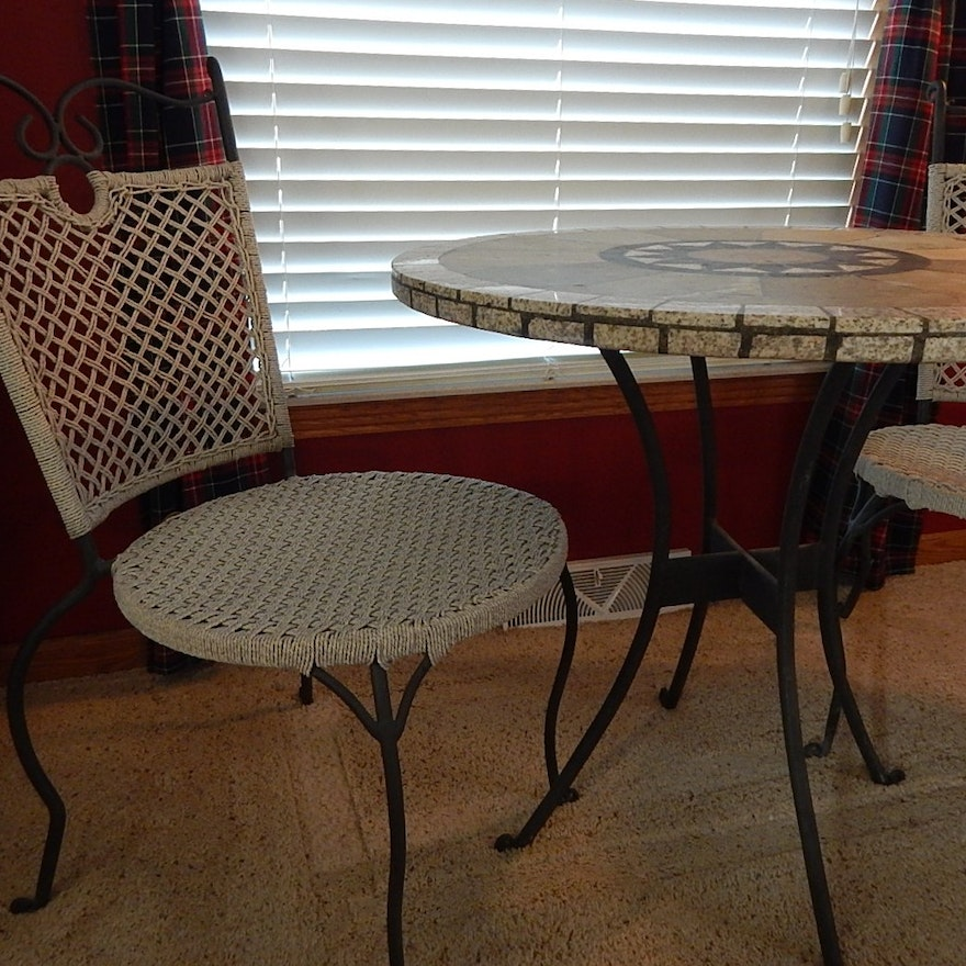 Marble Top Patio Table And Chairs
