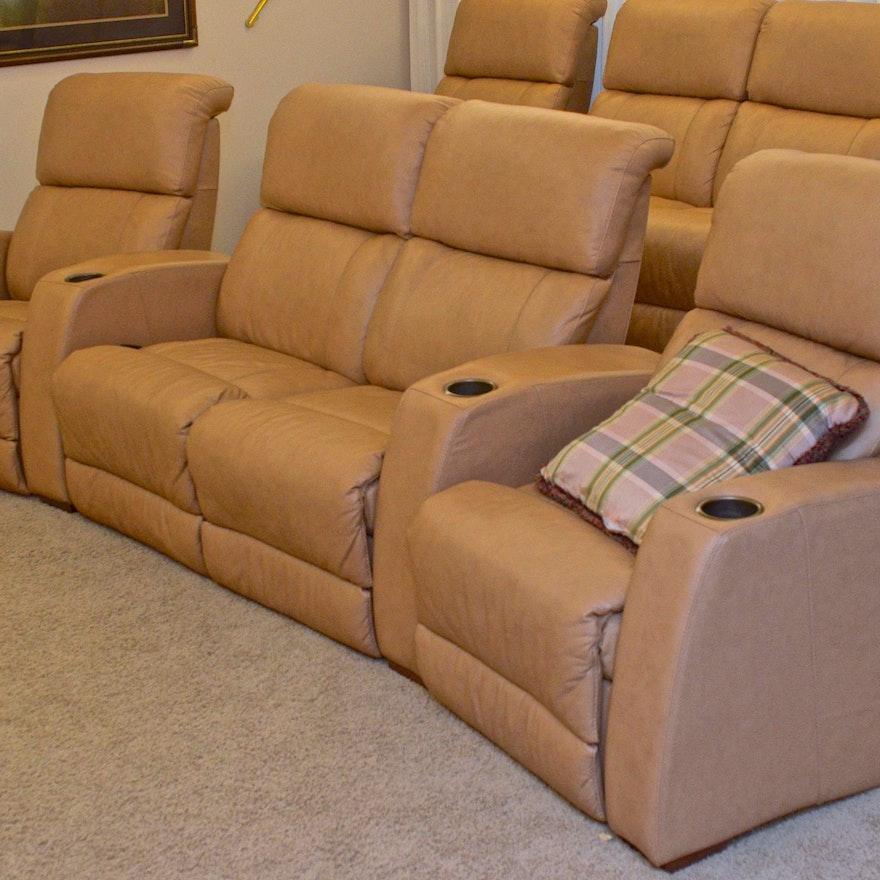 Strange Grouping Of Matter Brothers Leather Theater Style Recliners Inzonedesignstudio Interior Chair Design Inzonedesignstudiocom