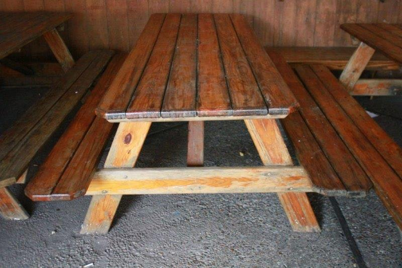 Amish Made Wooden Picnic Table