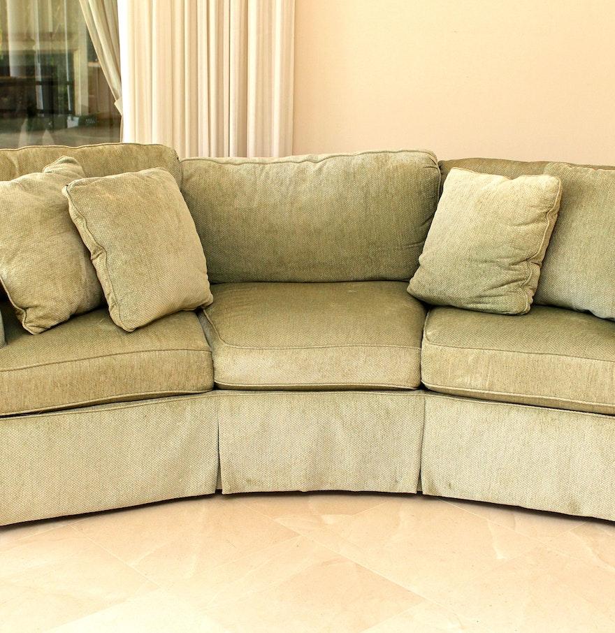Sage green sofas sage green microfiber sectional sofa for Sage green sectional sofa
