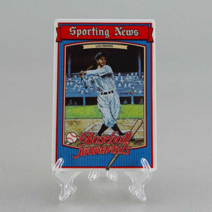 Sporting News Baseball Immortals Lou Gehrig Metal Card Ltd Ed