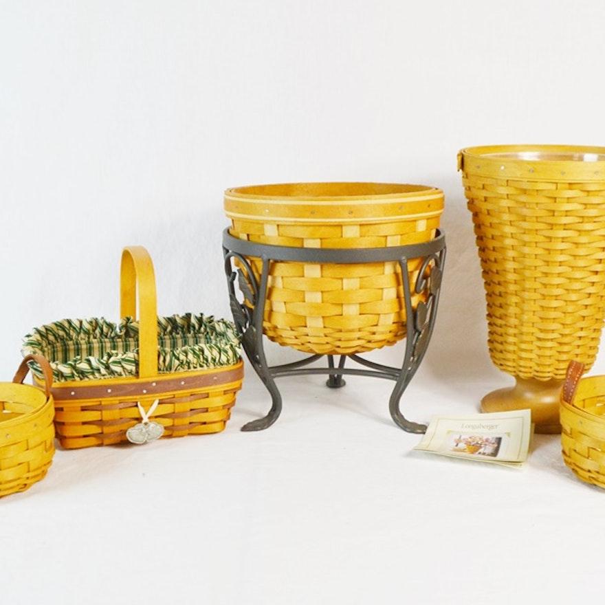 Five Longaberger Baskets