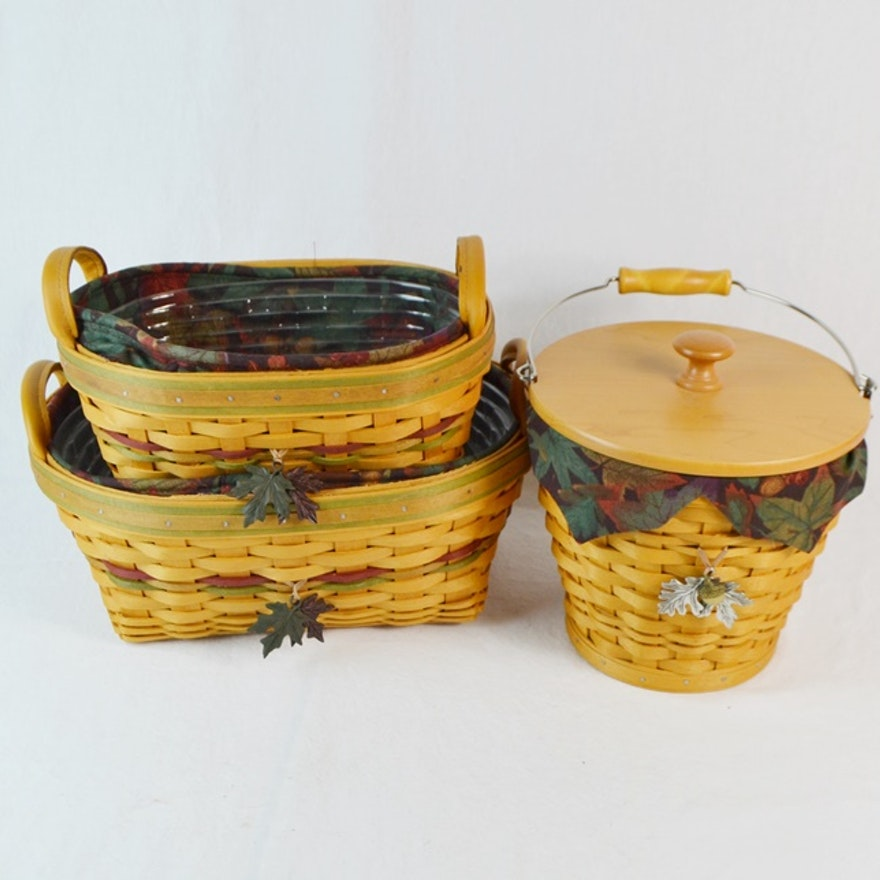 Three Autumn Themed Longaberger Baskets