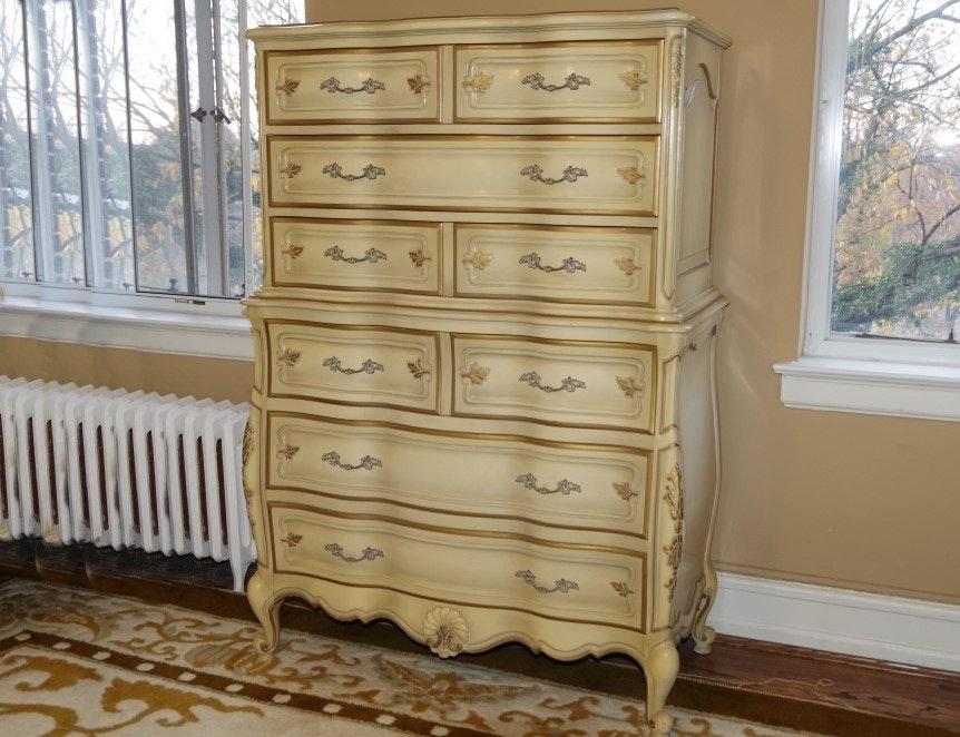 union furniture french provincial highboy dresser