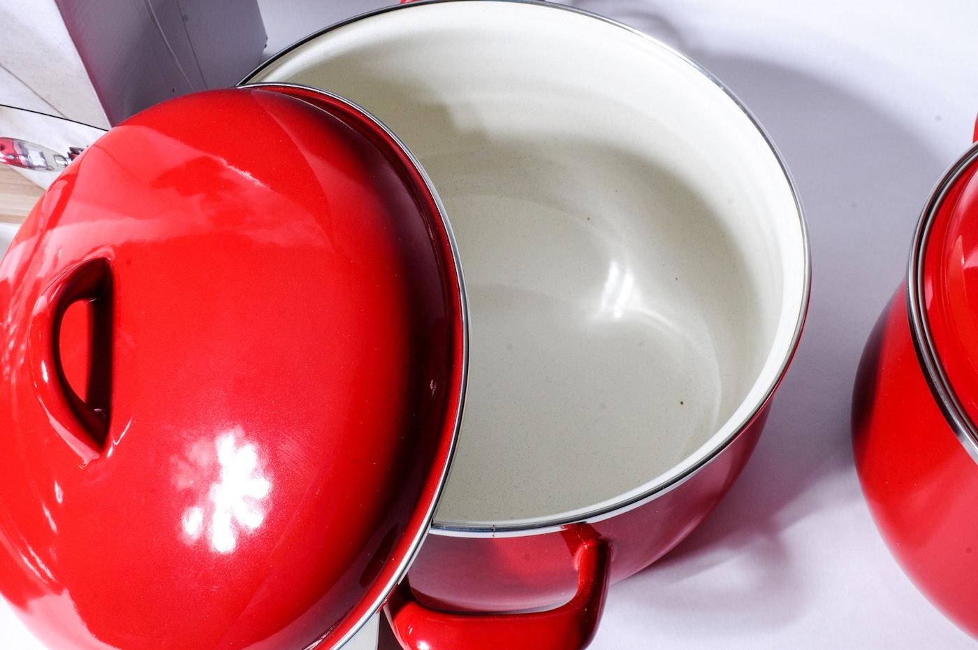 Vitrex Porcelain Enamel Steel Cookware  EBTH