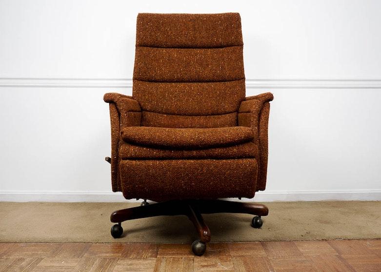 Fabulous Vintage La Z Boy Reclining Office Chair Download Free Architecture Designs Grimeyleaguecom
