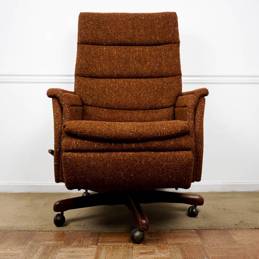 Miraculous Vintage La Z Boy Reclining Office Chair Download Free Architecture Designs Grimeyleaguecom