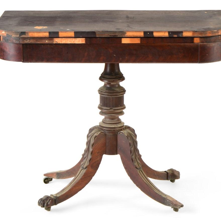Period American Mahogany Classical Card Table