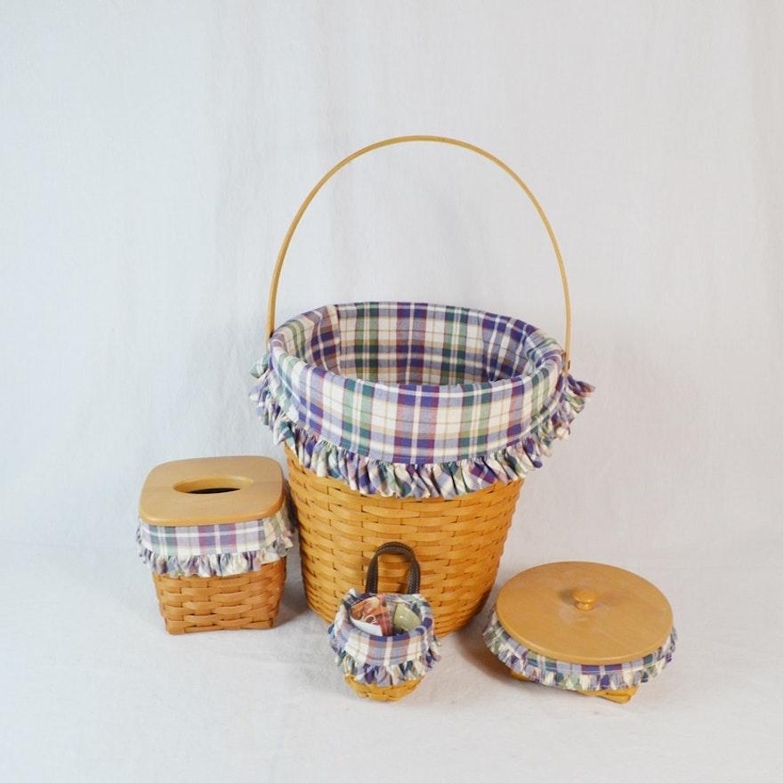 Four Coordinating Longaberger Classics Baskets