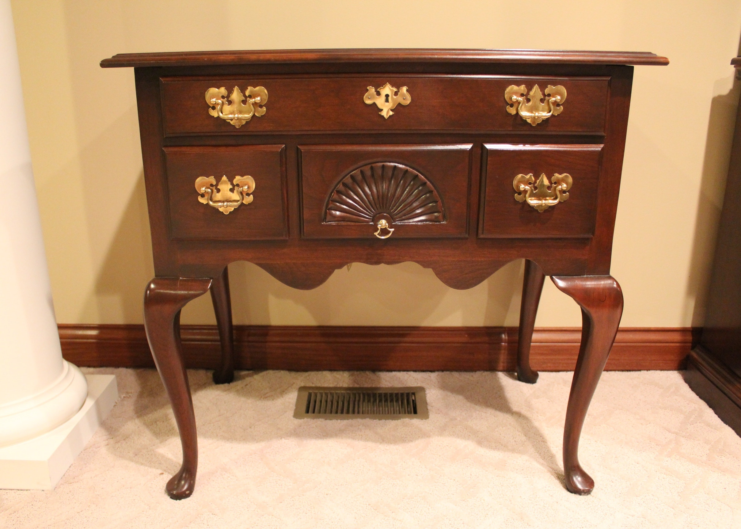 Exceptional Harden Furniture Queen Anne Style Lowboy ...