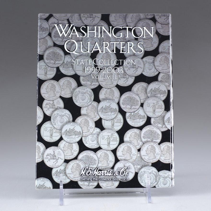 26 Washington Quarters in a Harris Coin Folder