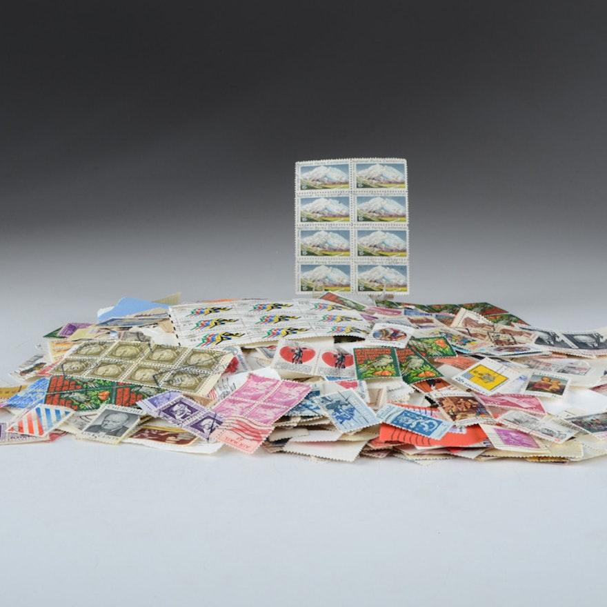 Manila Folder full of Hundreds of U.S. Stamps