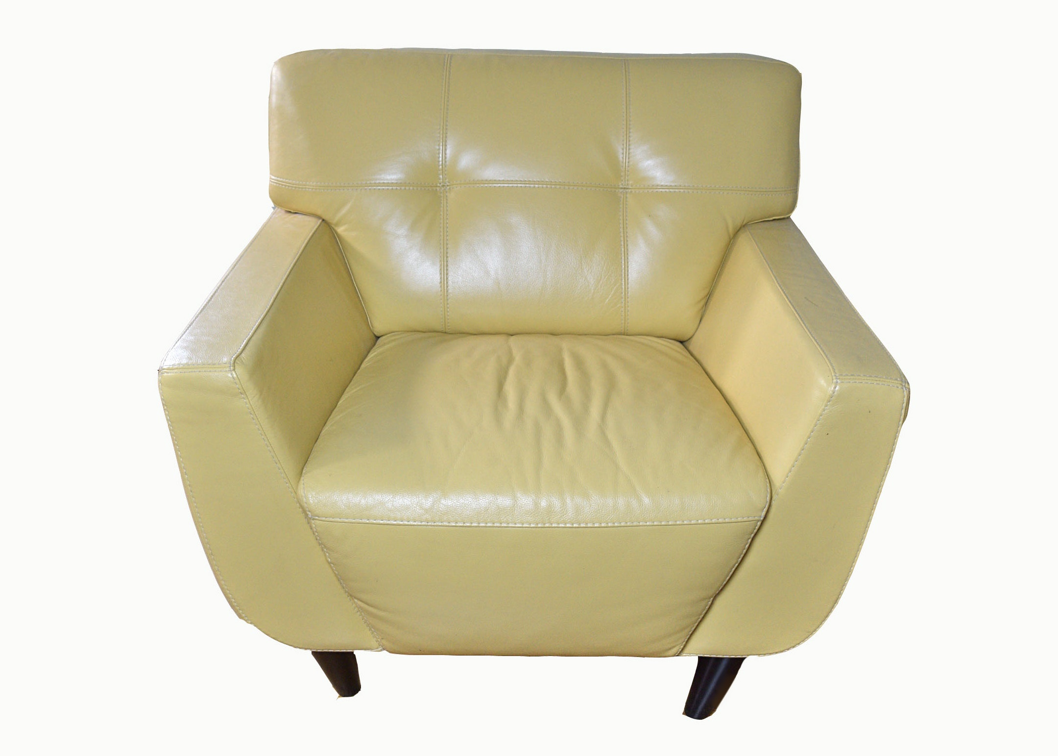 Chateau Du0027Ax Yellow Leather Chair