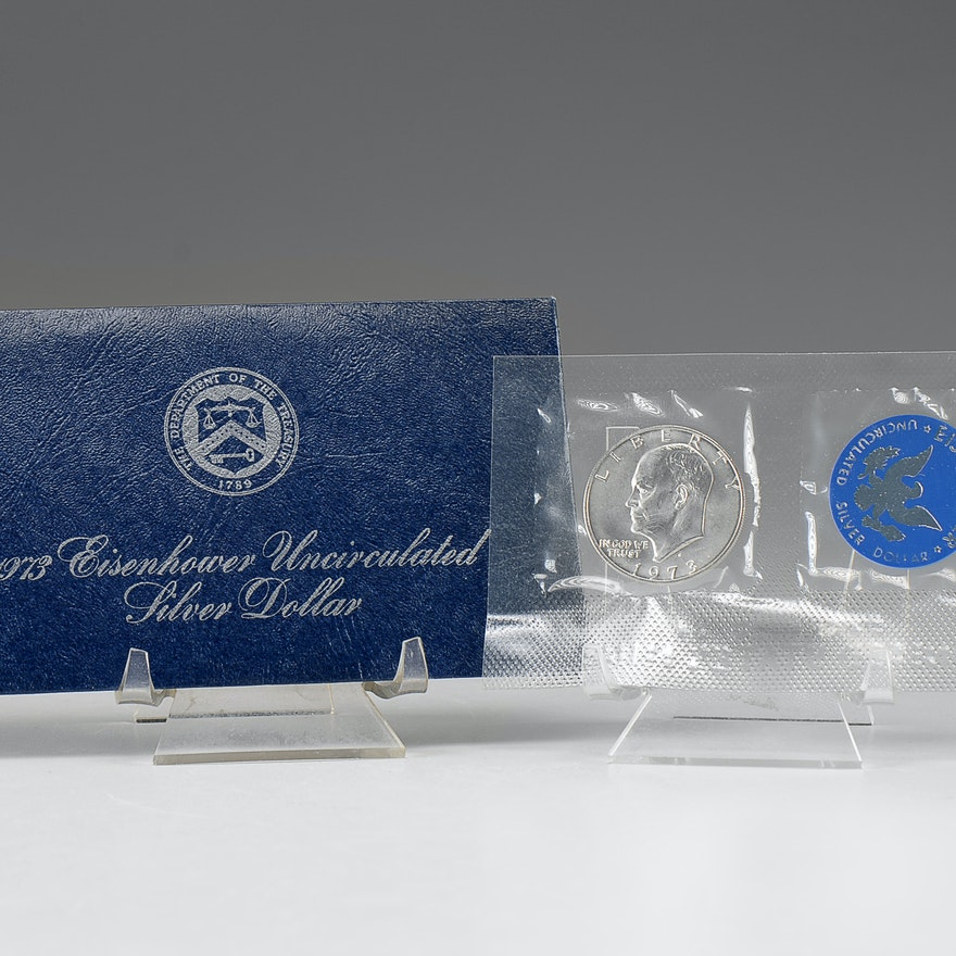 1973 S Eisenhower Uncirculated silver dollar
