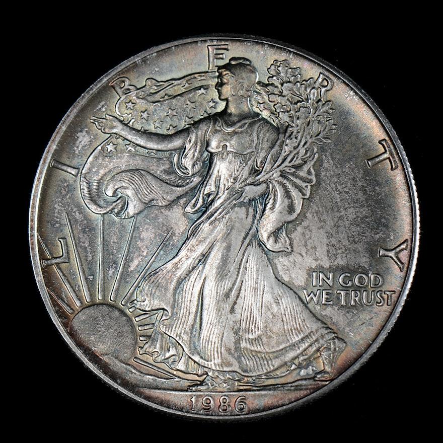 1986 One Dollar U.S. Silver Eagle