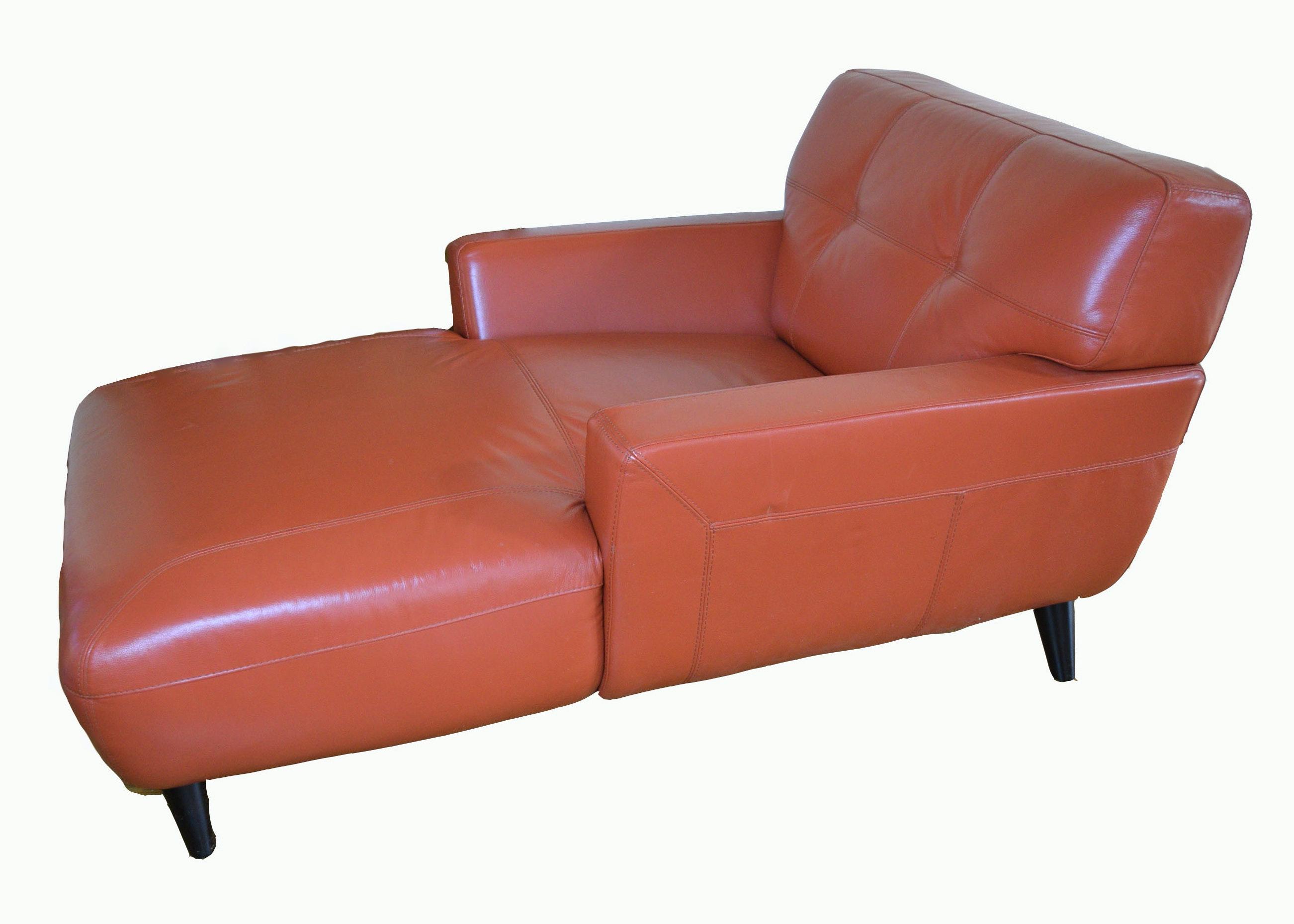 Chateau Du0027Ax Orange Leather Chair