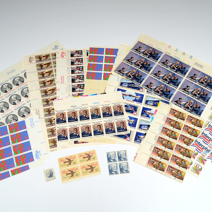 Large Collection of Vintage Unused U.S. Stamps