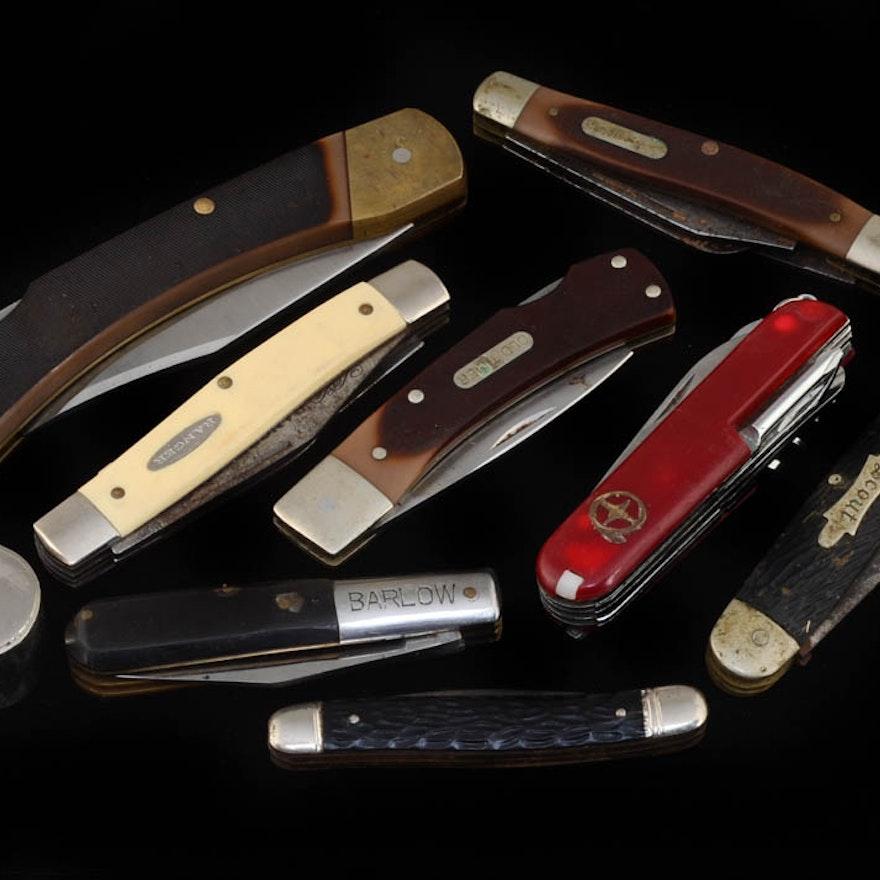 Group of (8) Various Pocket Knives