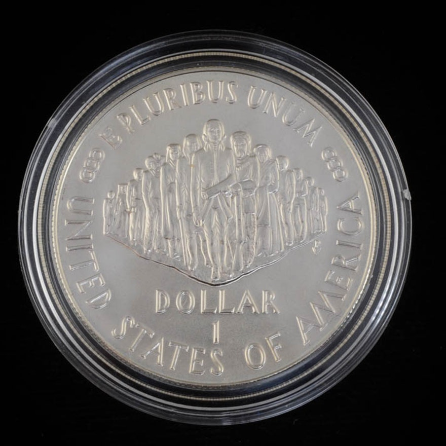1987 P U.S. Constitution Silver One Dollar Coin