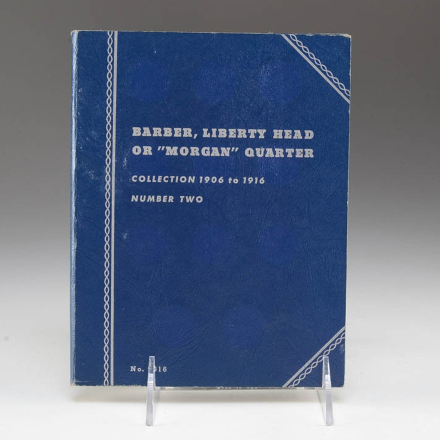 Group of (6) Silver Barber quarters in a Whitman Folder