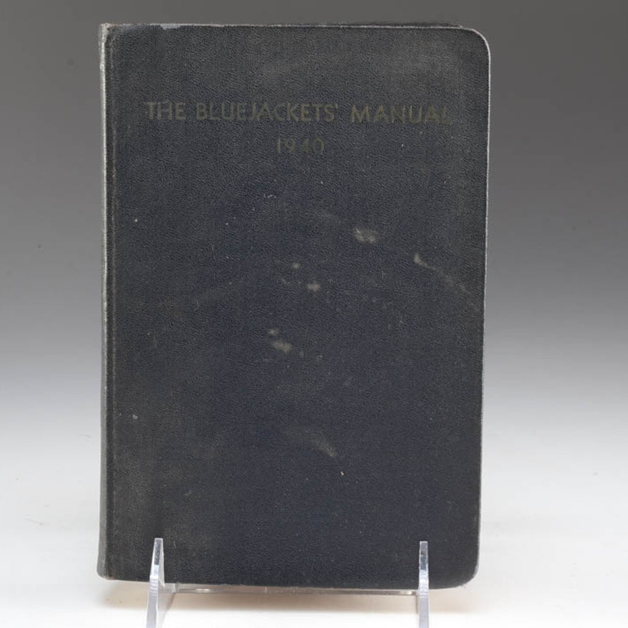 1940 Edition of the United States Navy BlueJackets' Manual