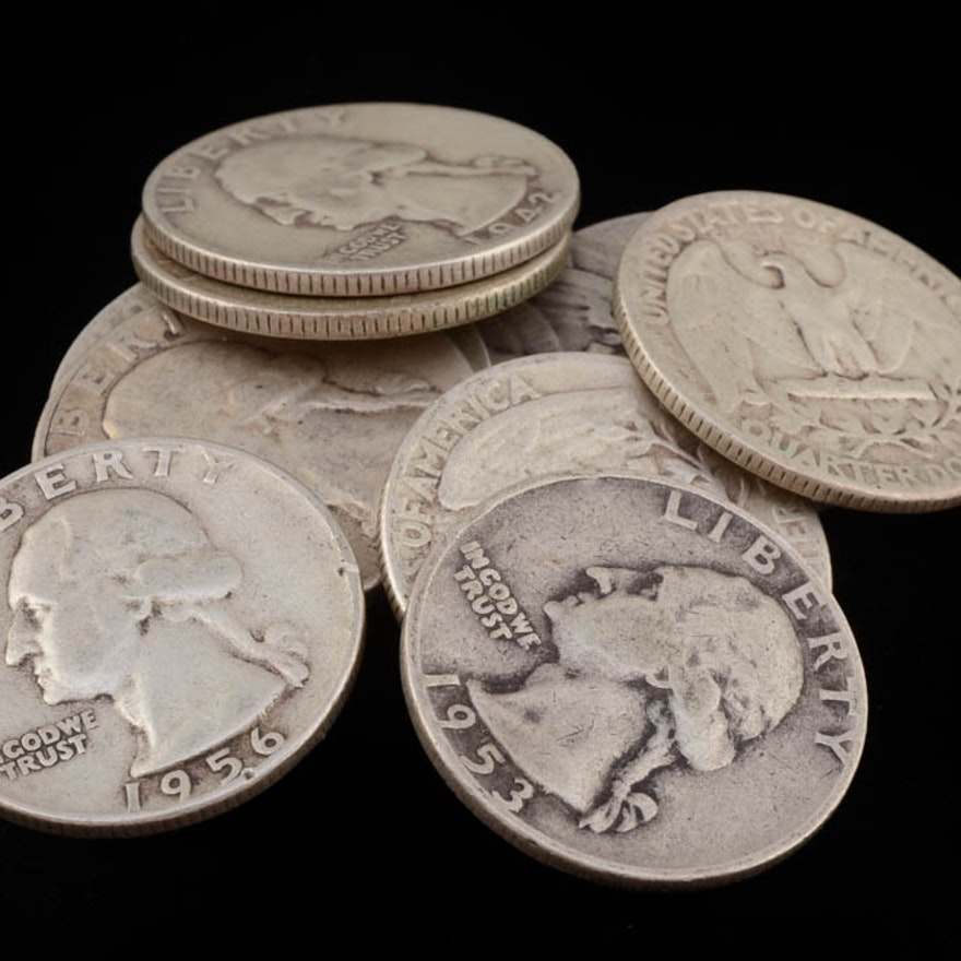 Group of (10) George Washington Silver Quarters