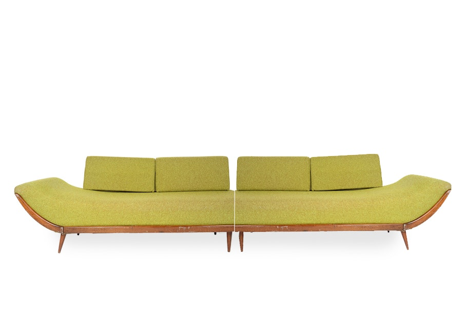 Mid century modern adrian pearsall style day couch ebth for Mid century modern furniture nashville