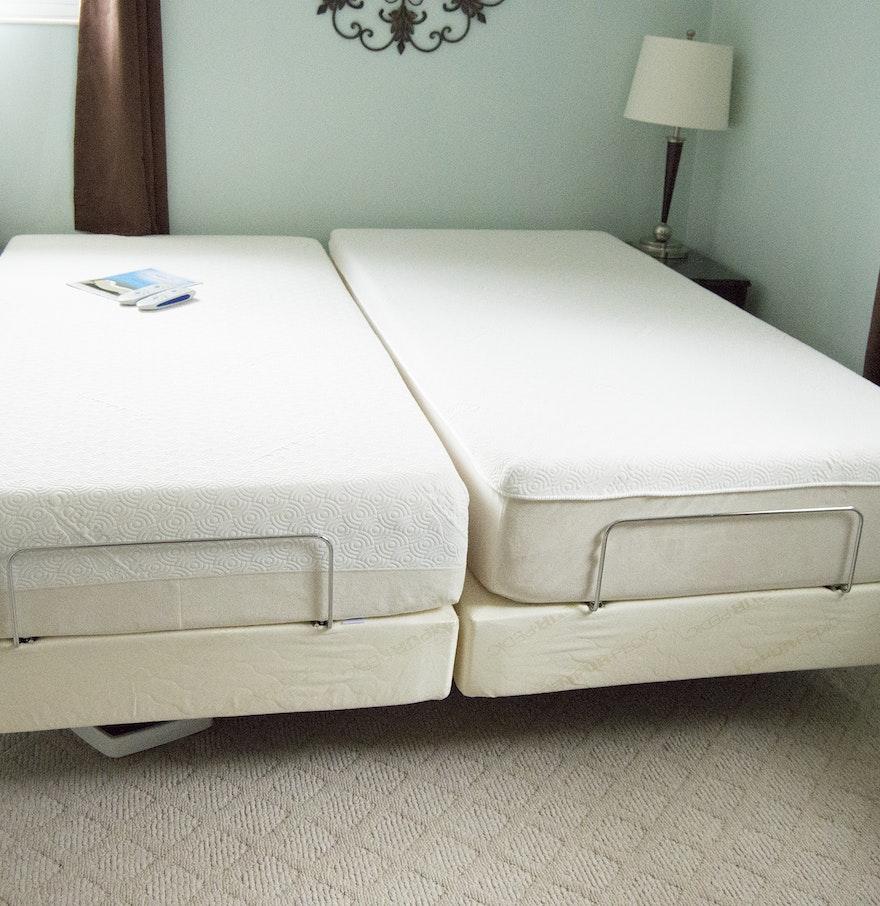 pair of tempur pedic advanced ergo twin extra long beds