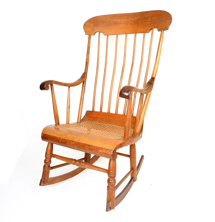 antique windsor style rocking chair ebth