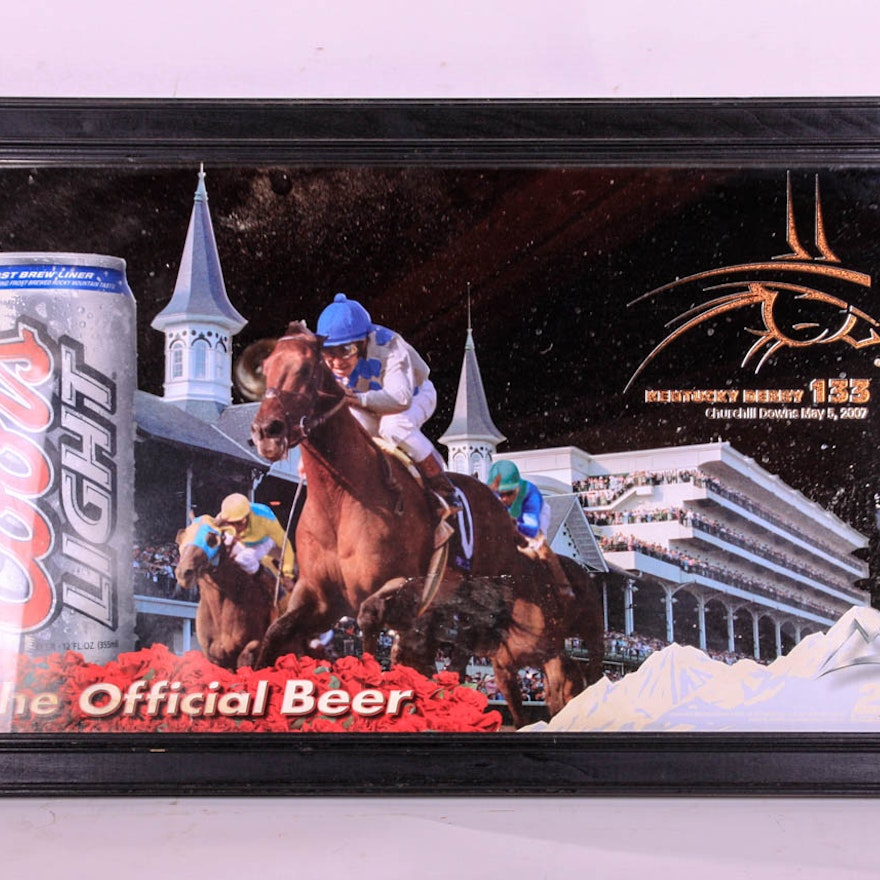 Coors lite kentucky derby 133 themed bar mirror ebth coors lite kentucky derby 133 themed bar mirror aloadofball Image collections