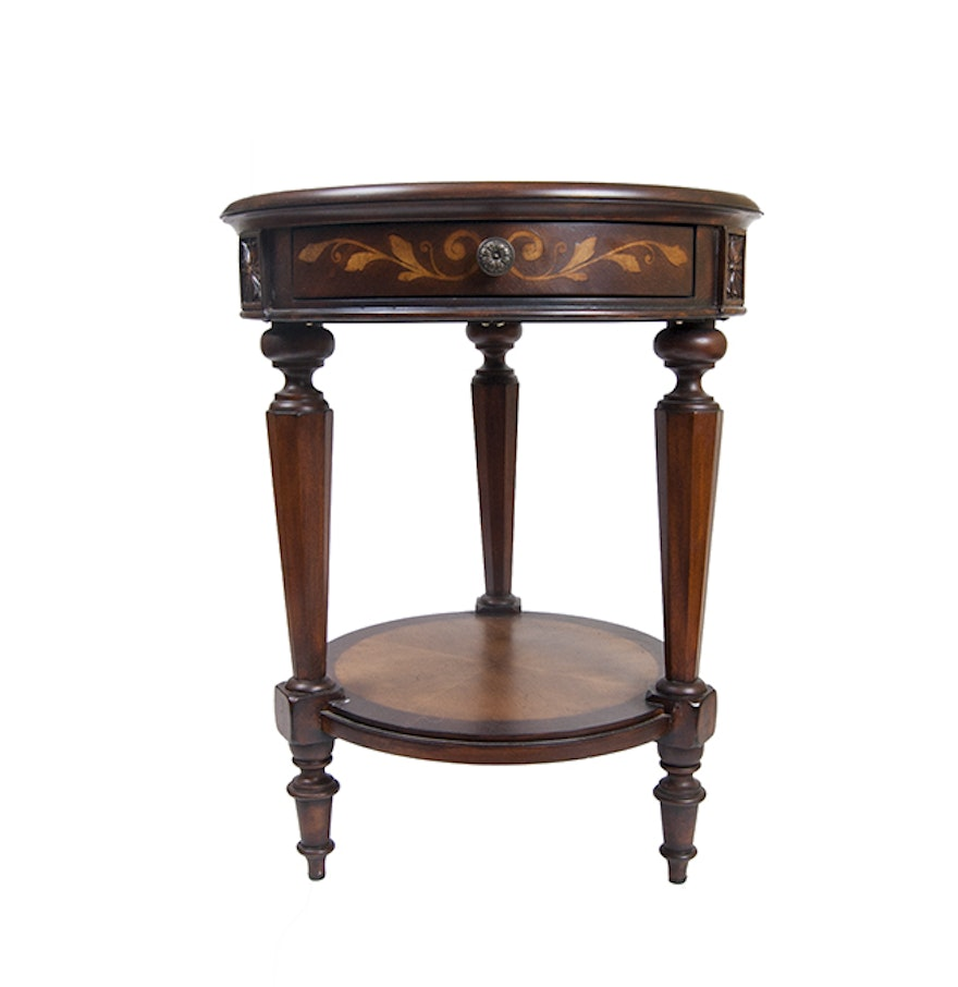 Floral marquetry accent table ebth for 12 x 12 accent table