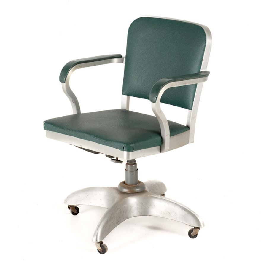1950s good form brushed aluminum desk chair ebth