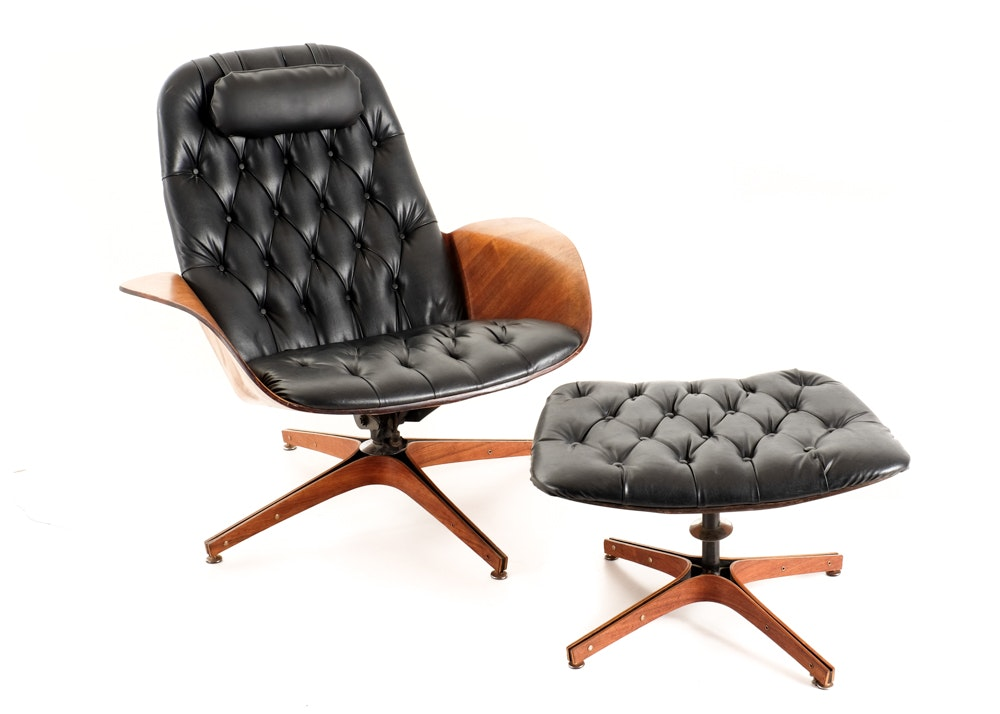 George Mulhauser Plycraft Lounge Chair And Ottoman ...