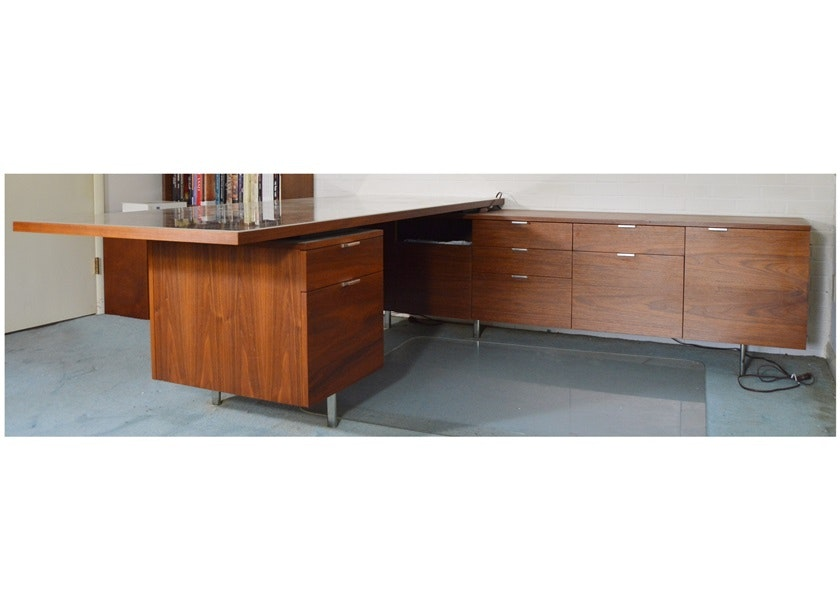 1966 L Shaped Desk By George Nelson For Herman Miller Ebth