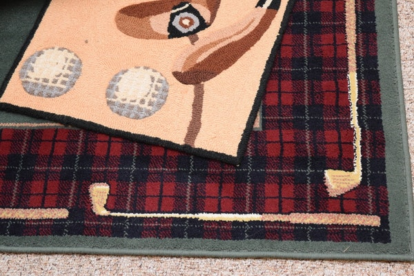 Golf Themed Rugs And Pillows Ebth
