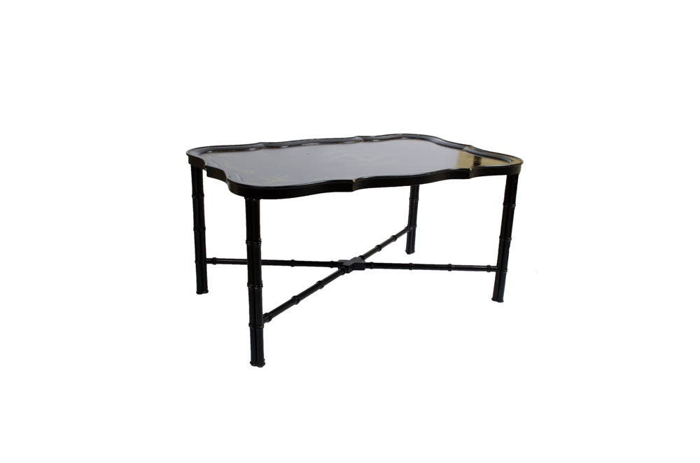 Black Lacquered Tray Table ...