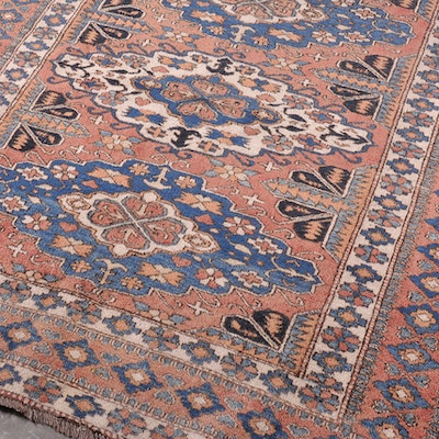 Antique Kazak Hand Knotted Wool Rug