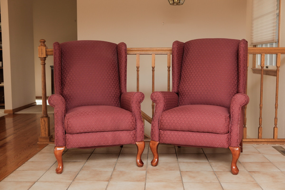 Pair Of Lazy Boy Classic Reclining Chairs