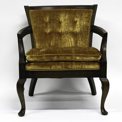 Vintage Upholstered Chair - Online Furniture Auctions Vintage Furniture Auction Antique