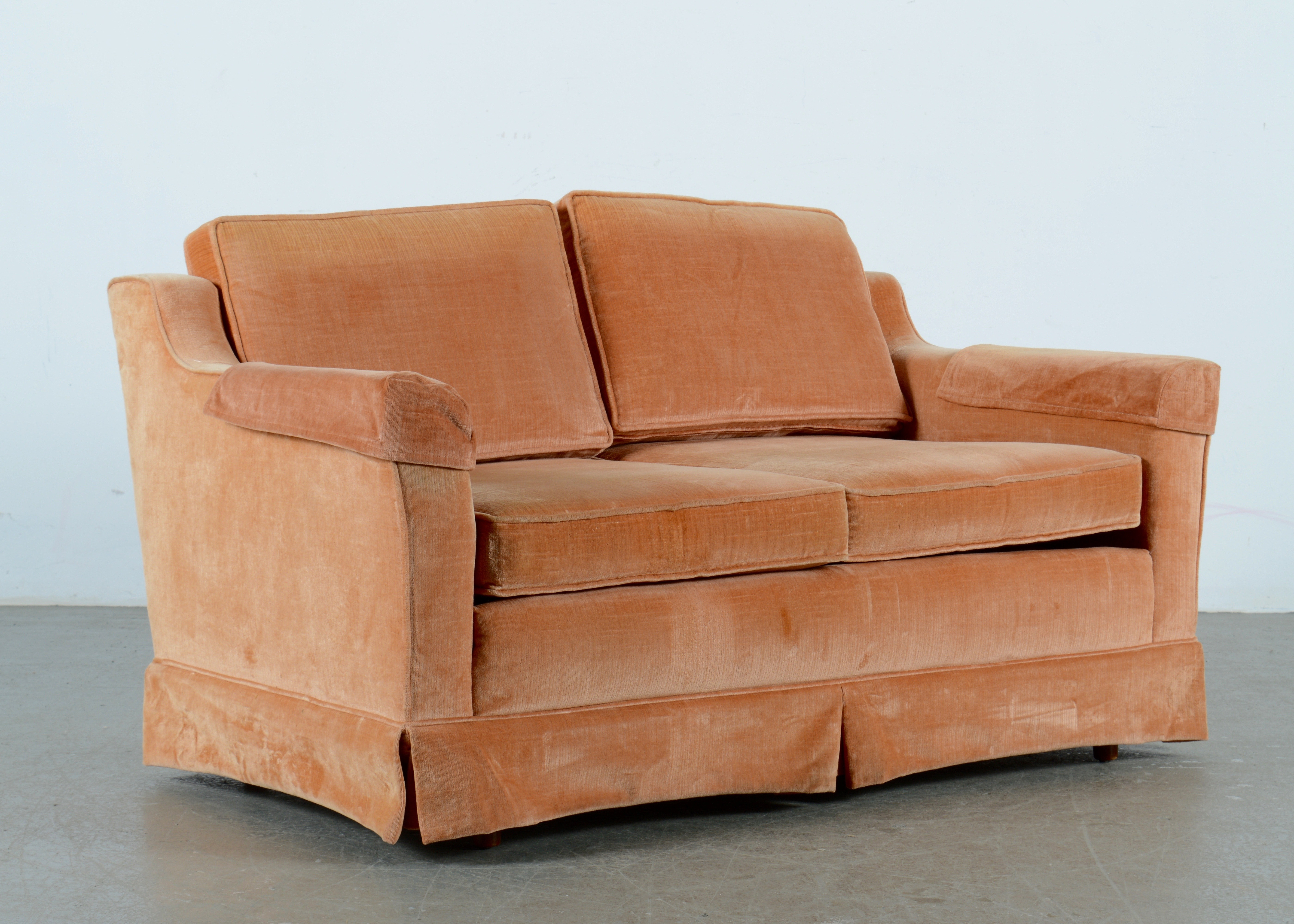Rose Colored Loveseat Sofa Ebth