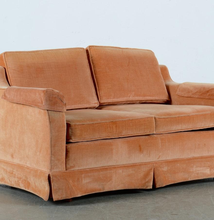 rose colored loveseat sofa ebth. Black Bedroom Furniture Sets. Home Design Ideas