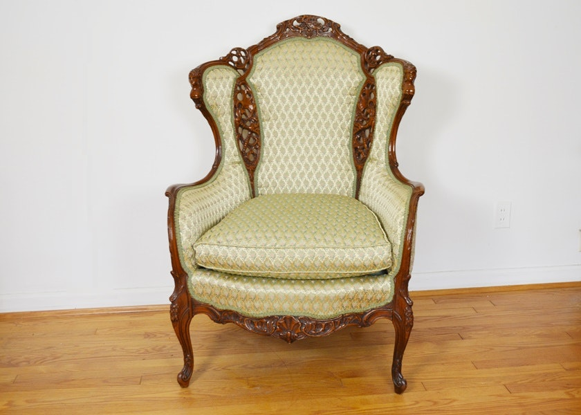 Vintage Jacob Better U0026 Co. French Rococo Revival Style Armchair