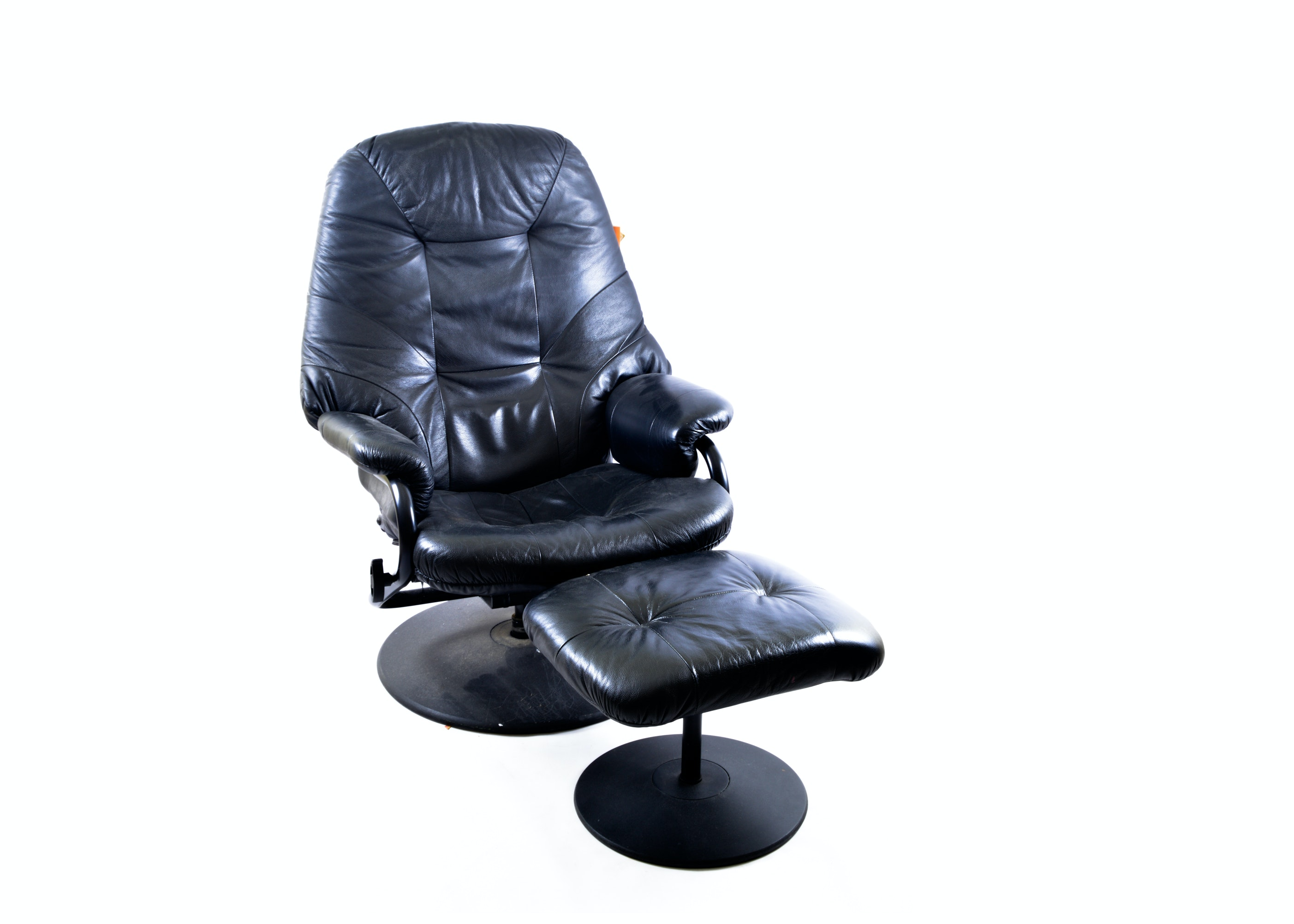 Palliser Leather Chair With Ottoman ...