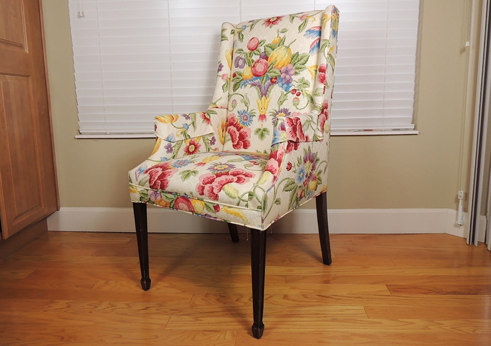 Vintage Floral Upholstered Chair