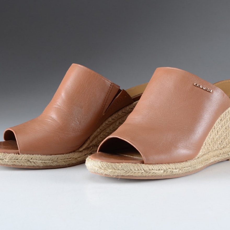 911e9f12487 Coach Gayle Espadrille Wedge Sandals