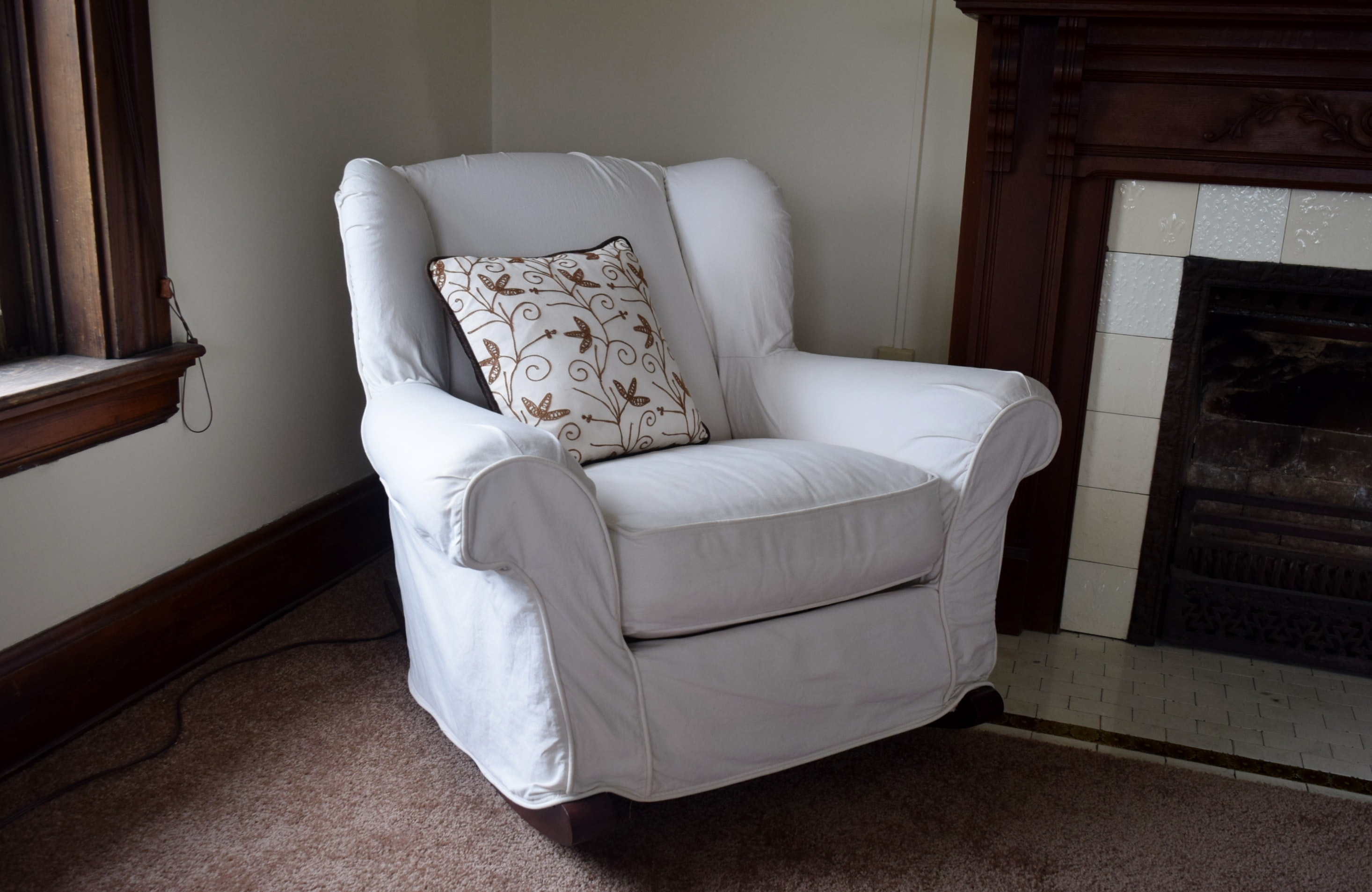 Pottery Barn Slipcovered Rocking Chair